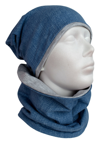 Cap and Muffler-Shawl Jeans