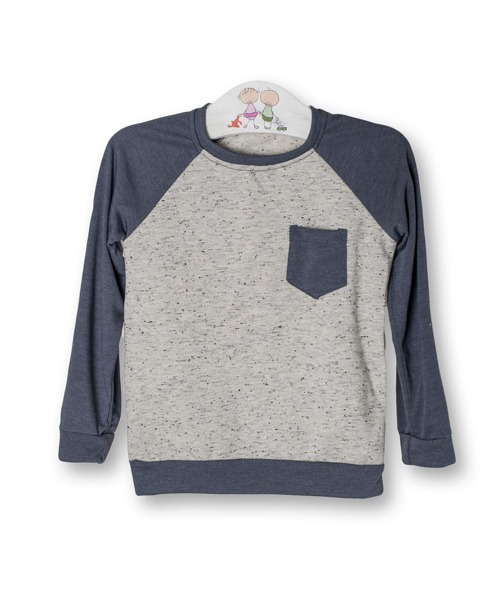 Longsleeve speckled top without hood